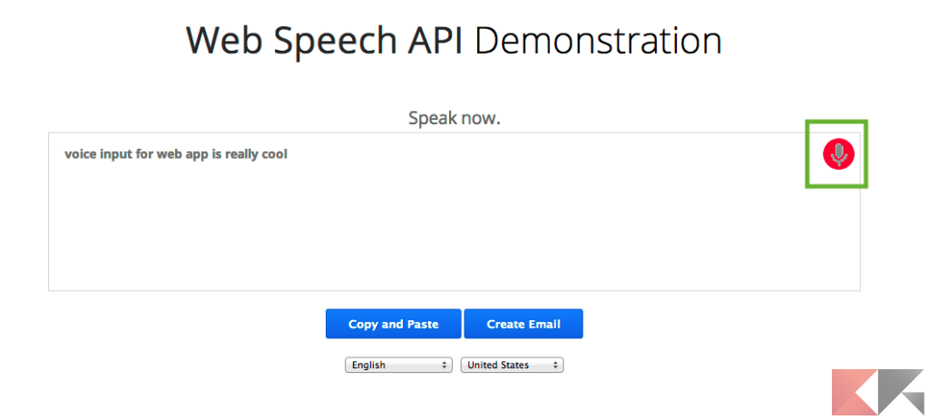 Web Speech API Demonstration 2