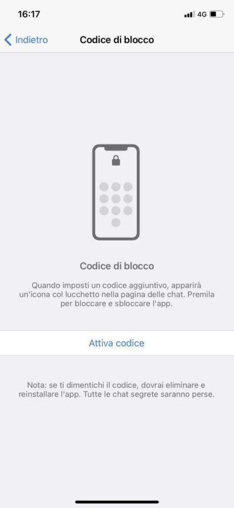 Codice accesso telegram