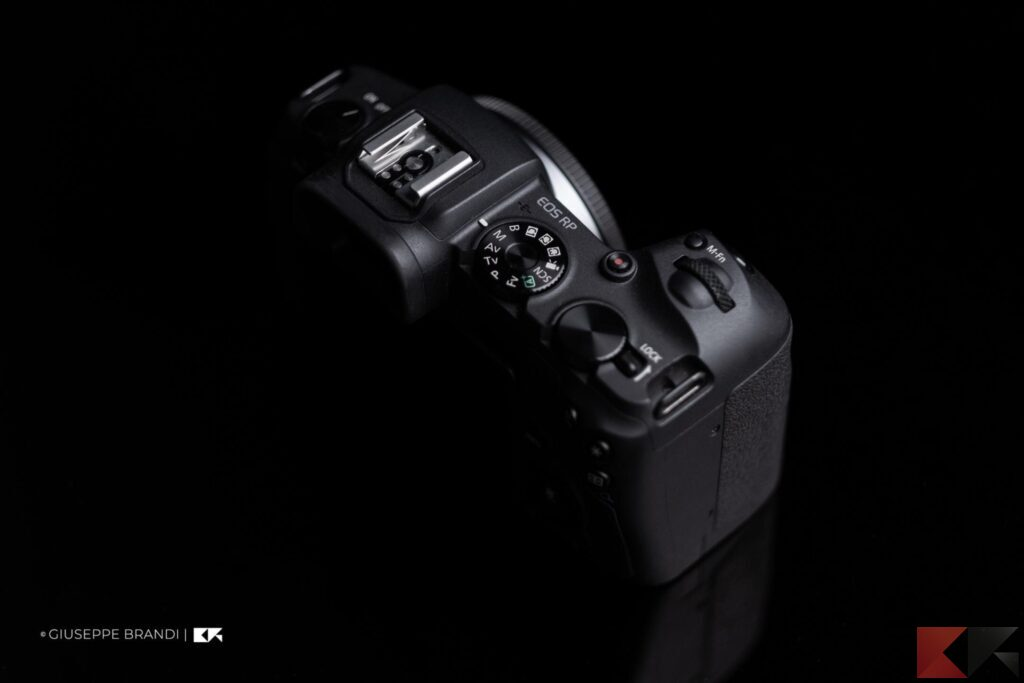 Canon EOS RP parte superiore