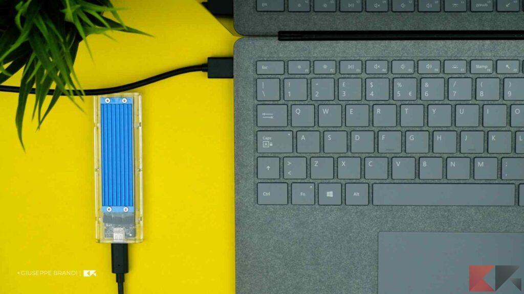 Recensione ORICO M.2 SSD Enclousre - Test