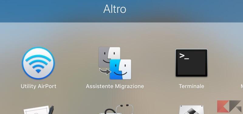 Assistente migrazione app