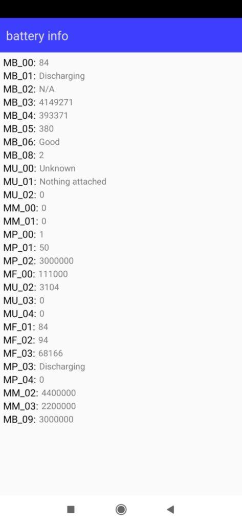 Stato batteria Android