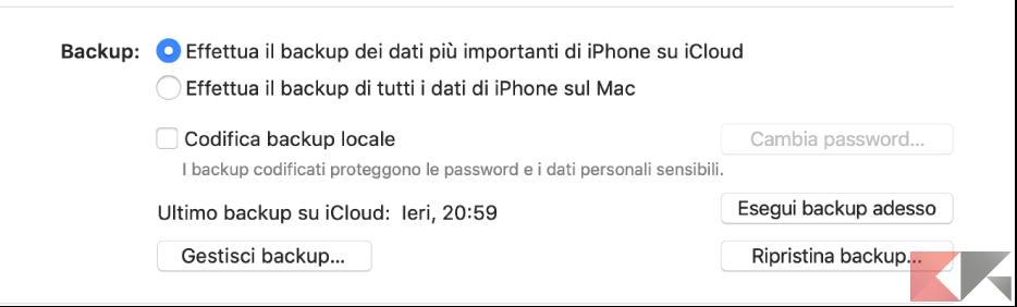 Effettua il Backup di tutti i dati di iPhone/iPad/iPod Touch sul Mac
