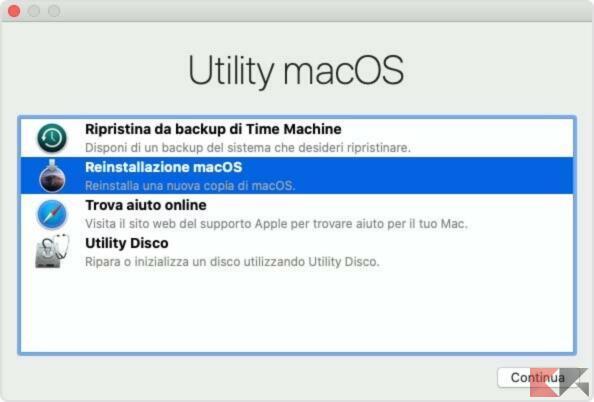 Eseguire un backup con Time Machine 3