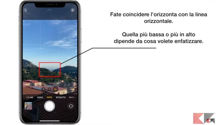 regola terzi iphone 2