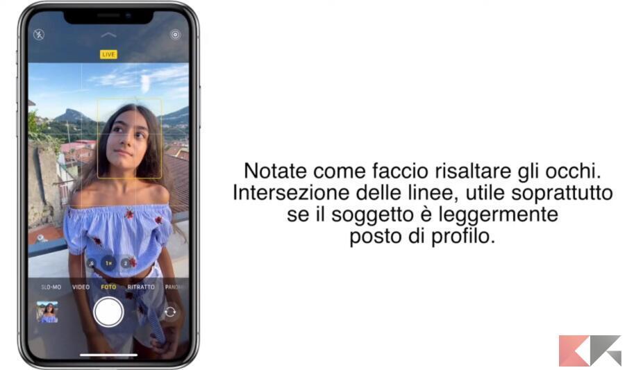 regola terzi iphone 5