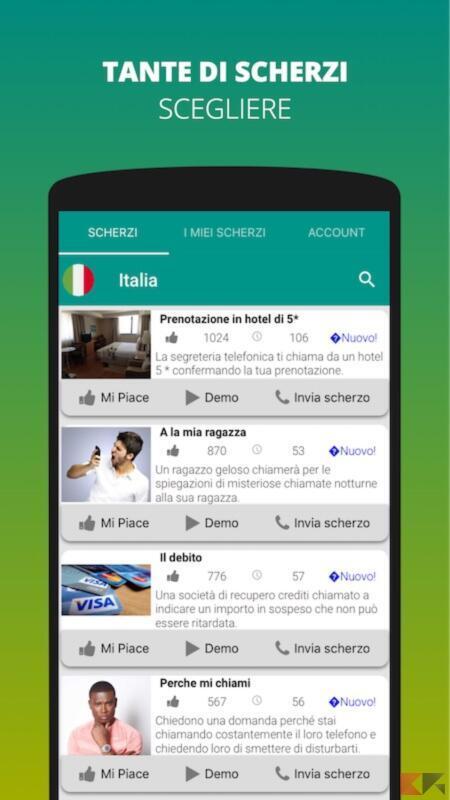 Scherzi Telefonici Divertenti - Prankyapp