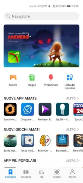 Come installare app su Huawei