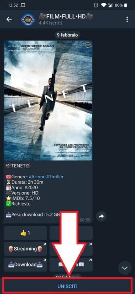Scaricare film gratis in Italiano