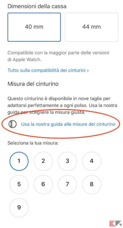 Come scegliere la misura del cinturino Solo Loop per Apple Watch 2