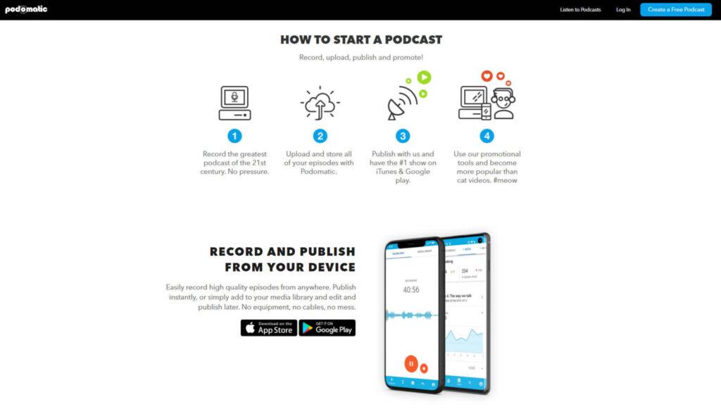 Screen delle informazioni utili su come caricare un podcast su Spotify con Padomatic.
