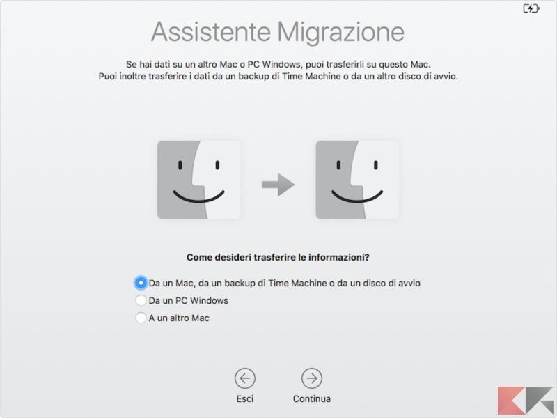Migrare i dati da Mac a Mac 1