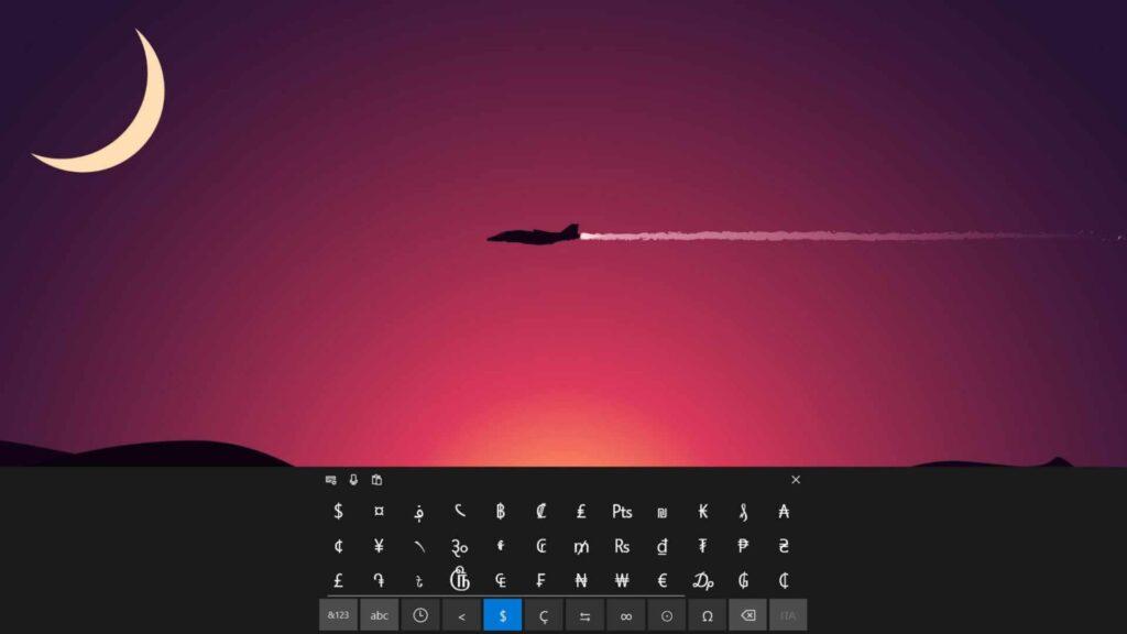 tastiera virtuale Windows