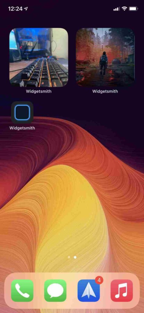 widget schermata Home