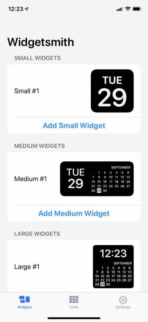 widgetsmith