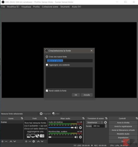 Come registrare lo schermo del PC con audio