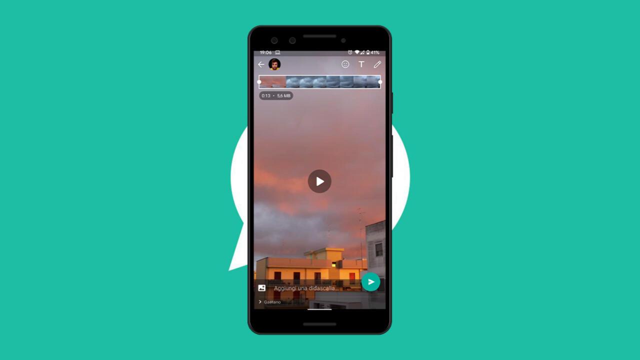 Come tagliare video su WhatsApp