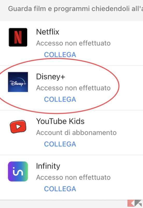 Collegare Disney+ a Google Assistant