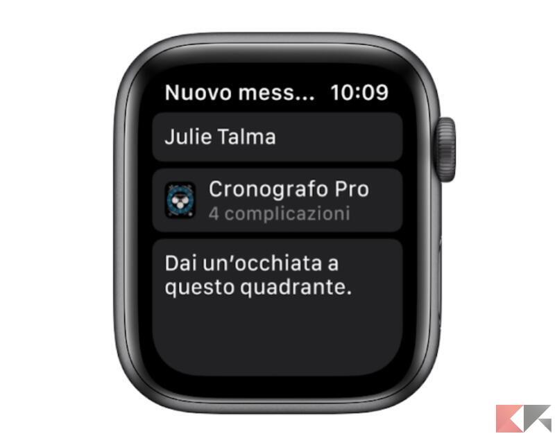 Come condividere un quadrante di Apple Watch