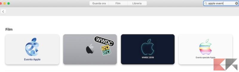 Come vedere on demand le presentazioni di Apple su Apple TV