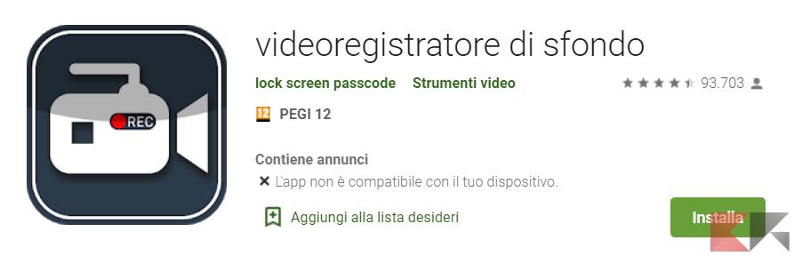 Screen Play Store Videoregistratore di sfondo