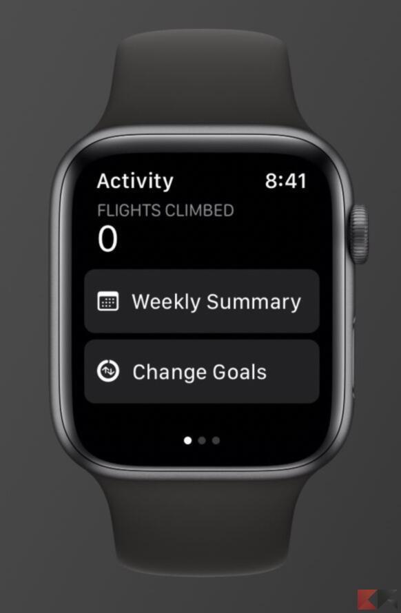 Come modificare gli anelli esercizio di Apple Watch 1