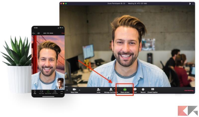 Come condividere video su Zoom