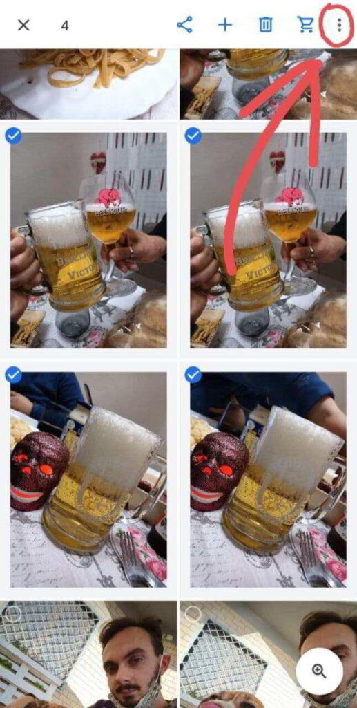 nascondere foto su Android - google foto