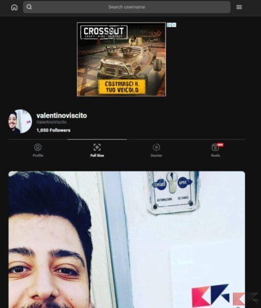 Come ingrandire foto profilo Instagram