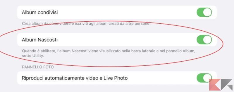 """Come nascondere l'album """"Nascosti"""" su iPhone, iPad e Mac 1"""