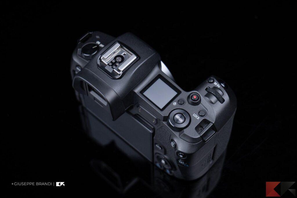 Recensione Canon EOS R display secondario