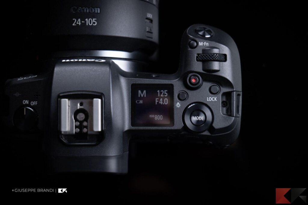 Recensione Canon EOS R display