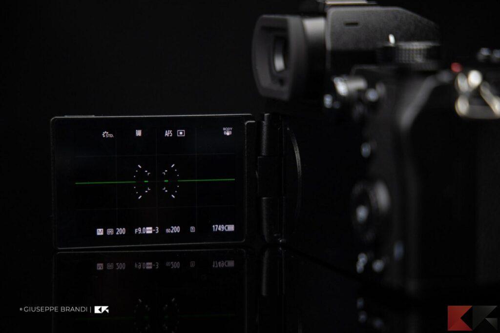 Recensione Panasonic Lumix S1 display e mirino