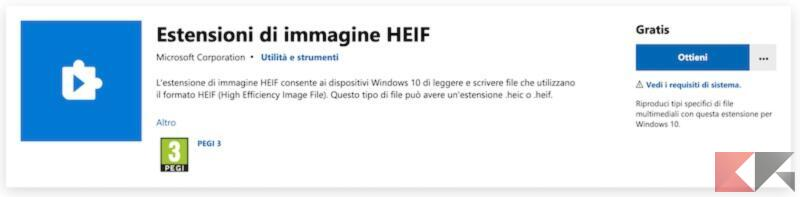 Come aprire file HEIC su Windows 10