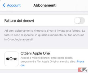 Come attivare Apple One
