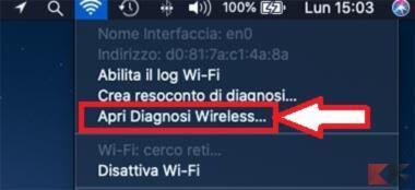 diagnosi wireless mac