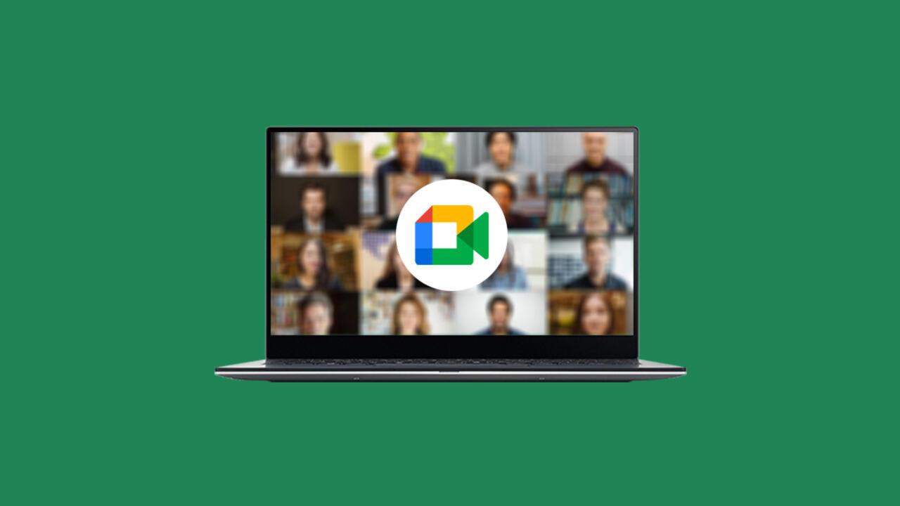 google meet laptop