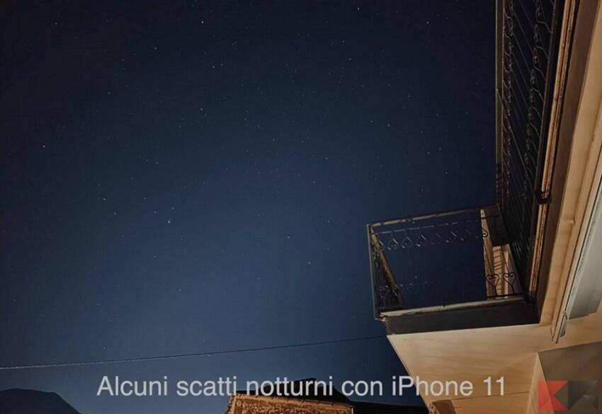 iphone 11 notte