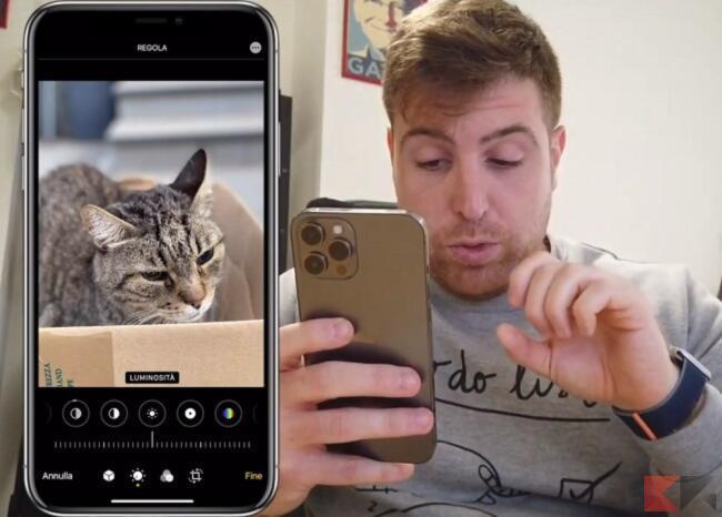 modificare foto iphone senza app 5