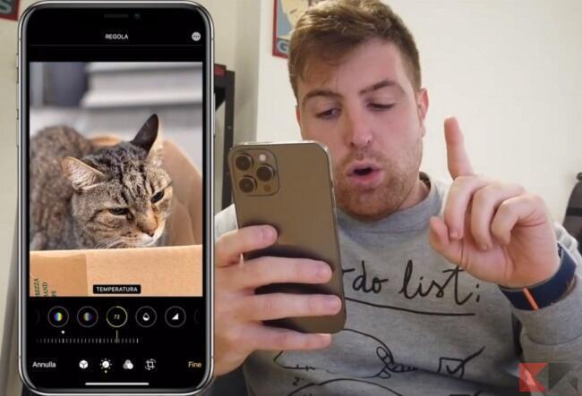 modificare foto iphone senza app 7