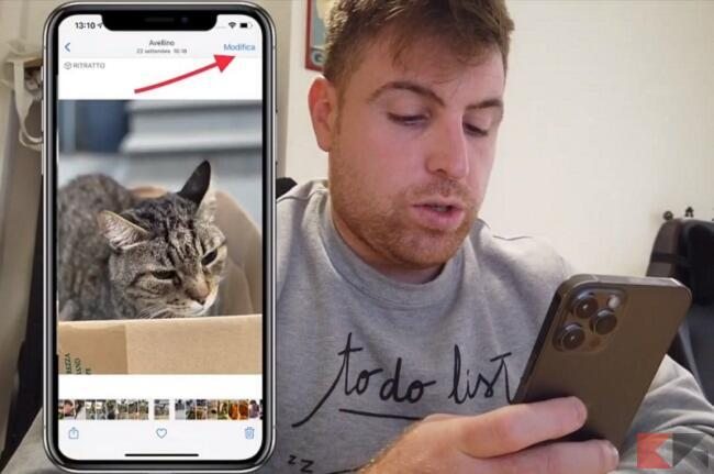 modificare foto iphone senza app