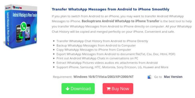 Come trasferire chat WhatsApp da Android a iPhone