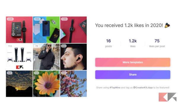 Come fare Best Nine Instagram 2020