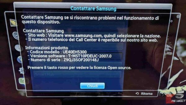 Come trovare il codice della TV Samsung