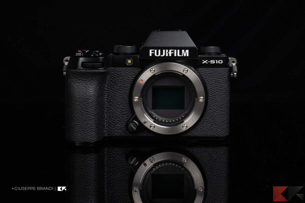 Fujifilm X-S10 frontale
