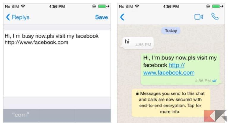 Come impostare risposte automatiche WhatsApp 2