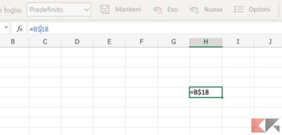 Come bloccare una riga su Excel 4