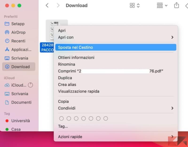 Come cancellare file recenti sul Mac 3