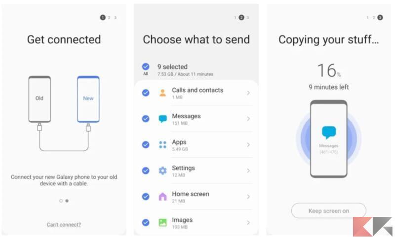 Come trasferire contatti da iPhone a Samsung  1