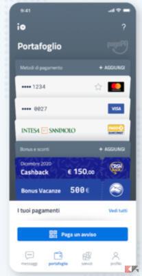 Come usare App IO per pagamenti e cashback 3